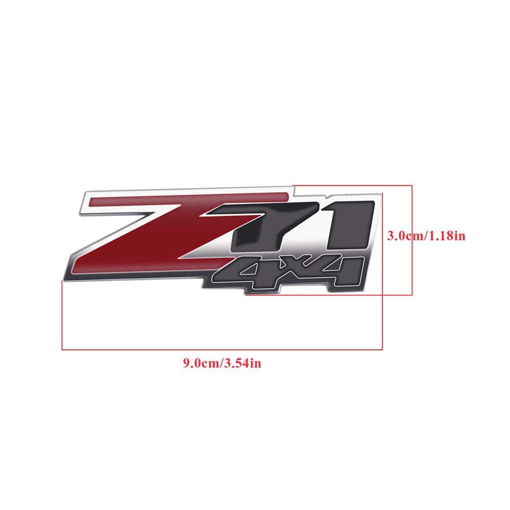 Z71 4 × 4 エンブレム 3D ステッカー銘板サイドトランクバッジトリムシボレータホためコロラド Silvado 郊外エクストリーム GMC シエラ
