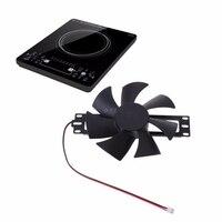 Ventilador de refrigeração sem escova plástico preto do fã da c.c. 18 v para acessórios do reparo do fogão de indução|Peças p/ fogão de indução| |  -
