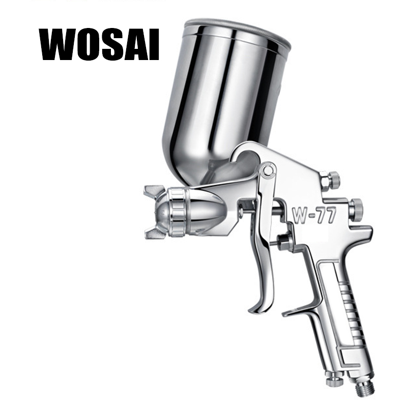 WOSAI 400ML Profession Pneumatic Spray Gun Airbrush Sprayer Alloy Painting Atomizer Tool With Hopper For Painting Cars W77