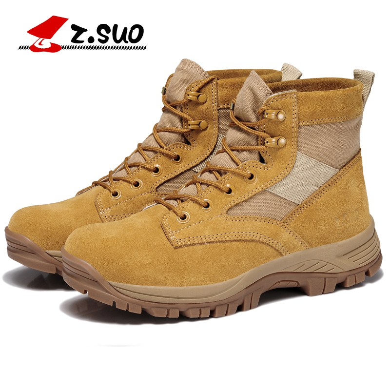 ФОТО Z.Suo 2017 Fashion Mens Desert Military Boots Army War Tactical Combat Mid Calf Canvas Suede Botas Man Handmade Tooling Boots