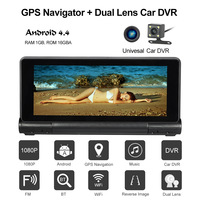KKmoon Car DVR Camera Dash Cam Recorder 7 1080P Dual Lens Android Smart System 16GB Flash