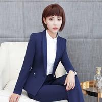 Costume d'affaires de la femme Nouvelle Professionnel Pantsuits Avec Vestes Et Pantalons Bureau dames Femmes D'affaires Costumes pantalons Femme Pantalon