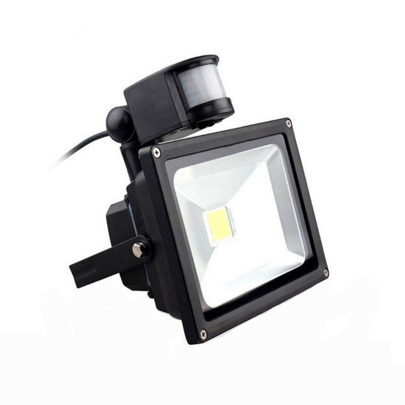 PIR Infrared Motion Sensor LED Flood Light 10W 20W 220V Sensor Floodlight Professional Lamp 50W 30W Outdoor Landscape Lighting free dhl fedex 85 265v 10w 20w 30w 50w 70w 100w pir led floodlight with motion detective sensor outdoor led flood light spot