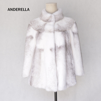 Ladies short style real mink fur coat cloak white amice coat stand collar sleeves genuine imported whole leather coat for women.
