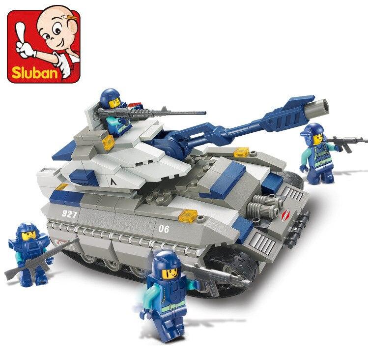 Sluban City SWAT Giant Tank Building Blocks set Bricks Construction Enlighten Toys For Children Gift