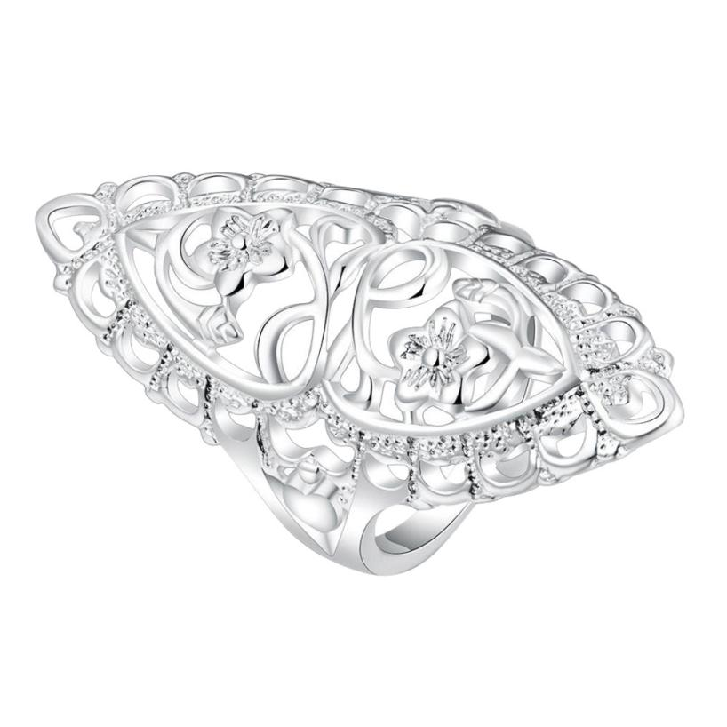 Rings for Women 2018 New Fashion Cute Filled Hollow Big Ring Ladies Finger Jewelry Gift 0416#23