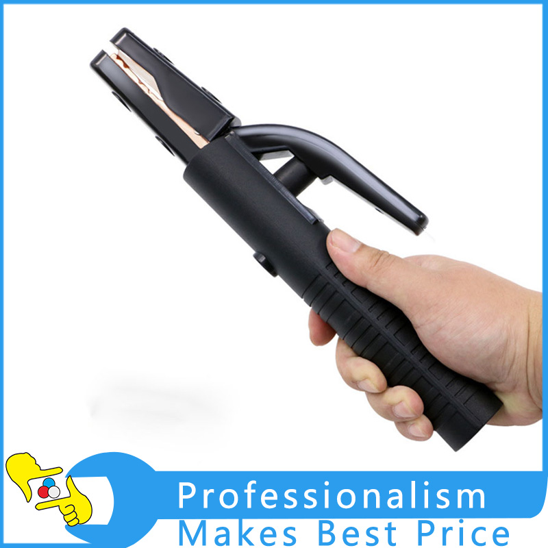 Welding Electrode Holder High Quality Welding Machines Accessories Non-slip Handle Black Welding Accessories
