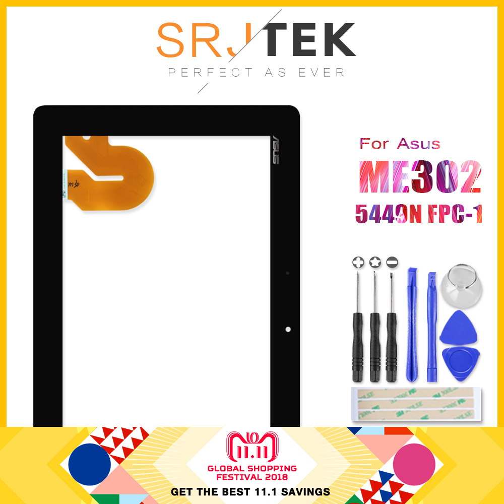 Original Para ASUS MeMO Pad FHD 10 ME301 ME302 ME302C ME302KL K005 K00A Tablet PC Táctil de Cristal Digitalizador 5449N FPC-1 Partes