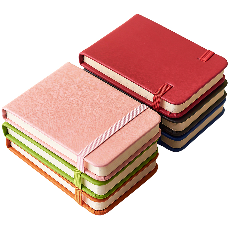 Pocket sized small notebook, memo pads PU leather cover 46 sheets blank 46 sheets lined african leather memo