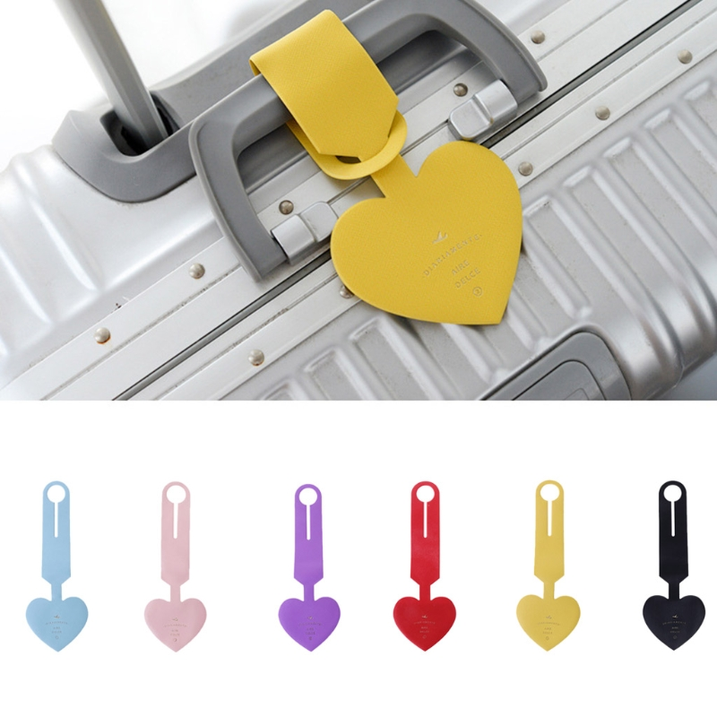 NoEnName_Null High Quality PVC Heart Shape Travel Luggage Tags Baggage Suitcase Bag Labels Name Address NoEnName_Null High Quality PVC Heart Shape Travel Luggage Tags Baggage Suitcase Bag Labels Name Address