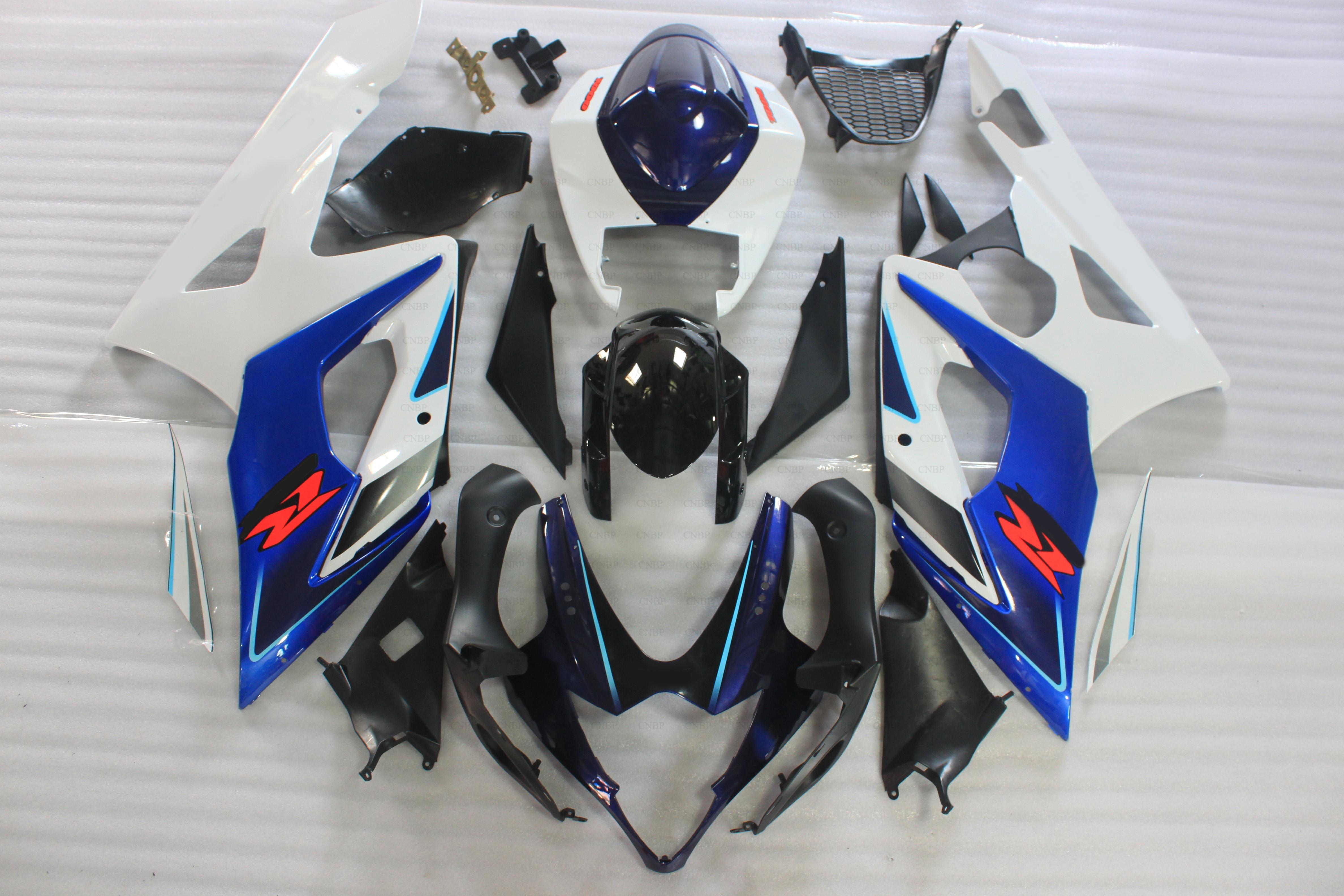 Bodywork for Suzuki GSXR1000 2006 Abs Fairing GSX R1000 2005 2005 - 2006 K5 Blue White Fairings GSXR 1000 2006 custom road fairing kits for suzuki glossy flat black 2006 gsxr 1000 k5 2005 gsx r1000 06 05 motorcycle fairings kit