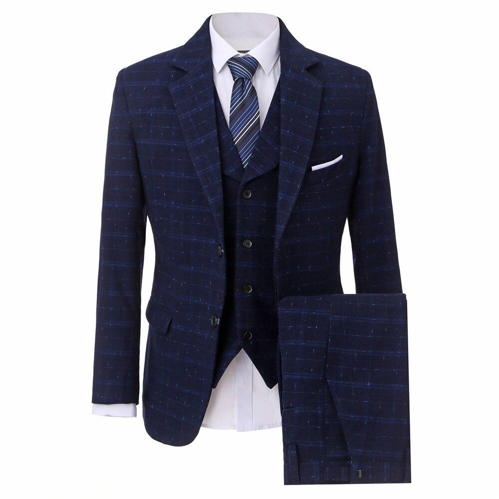 (Пиджак + Брюки для девочек + жилет) классический Для мужчин костюм TERNO Slim Fit Нарядные Костюмы для свадьбы для Для мужчин 3 шт. Slim Fit Смокинги для...