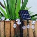 Lámparas solares 4.8 M 20 Led Luz de Hadas de la Decoración Del Partido Del Festival de Navidad Bola de Cristal A Prueba de agua Luz FULI