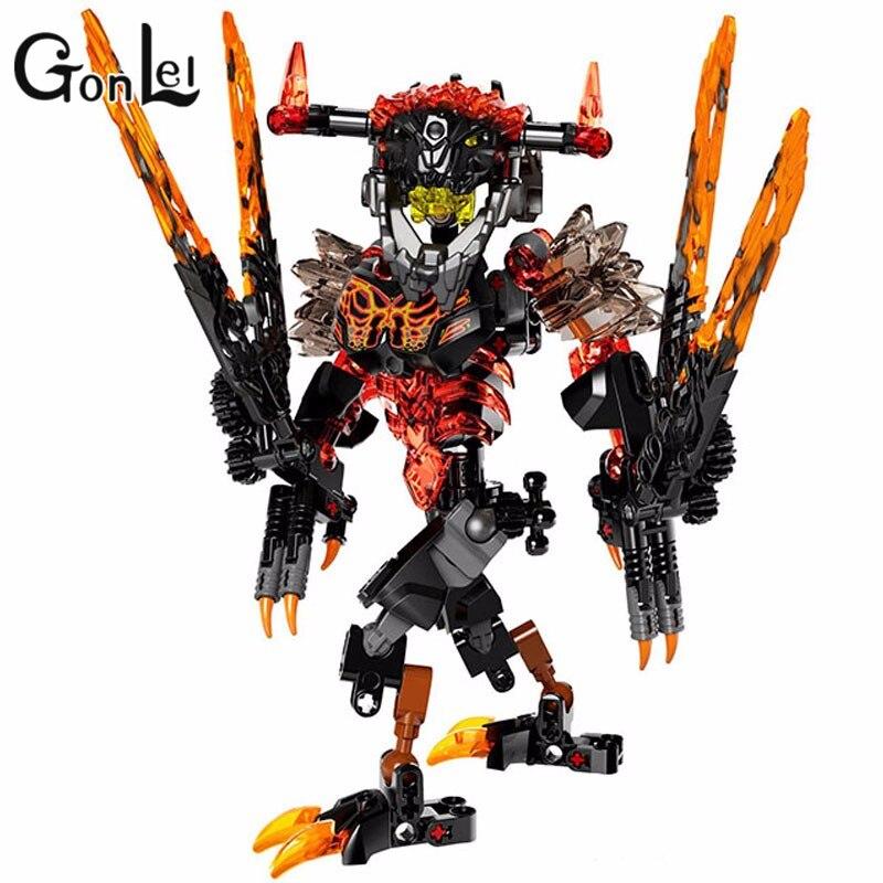GonLeI Bevle 2017 New Style KSZ 613-2 Biochemical Warrior Bionicle Lava Beast Building Block Toys Compatible 71313