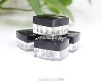 20 100pcs5g 5ml Plastic Cream Box Square Bottle Top Grade Crystal Cosmetic Small Sample Box Eye