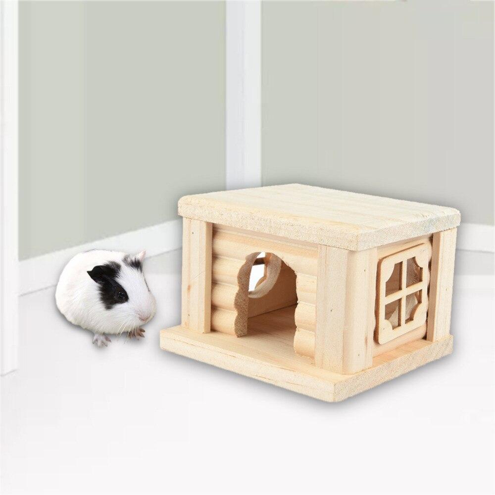 Casa de madera con tapa plana Para pequeños animales Juguetes de - Productos animales