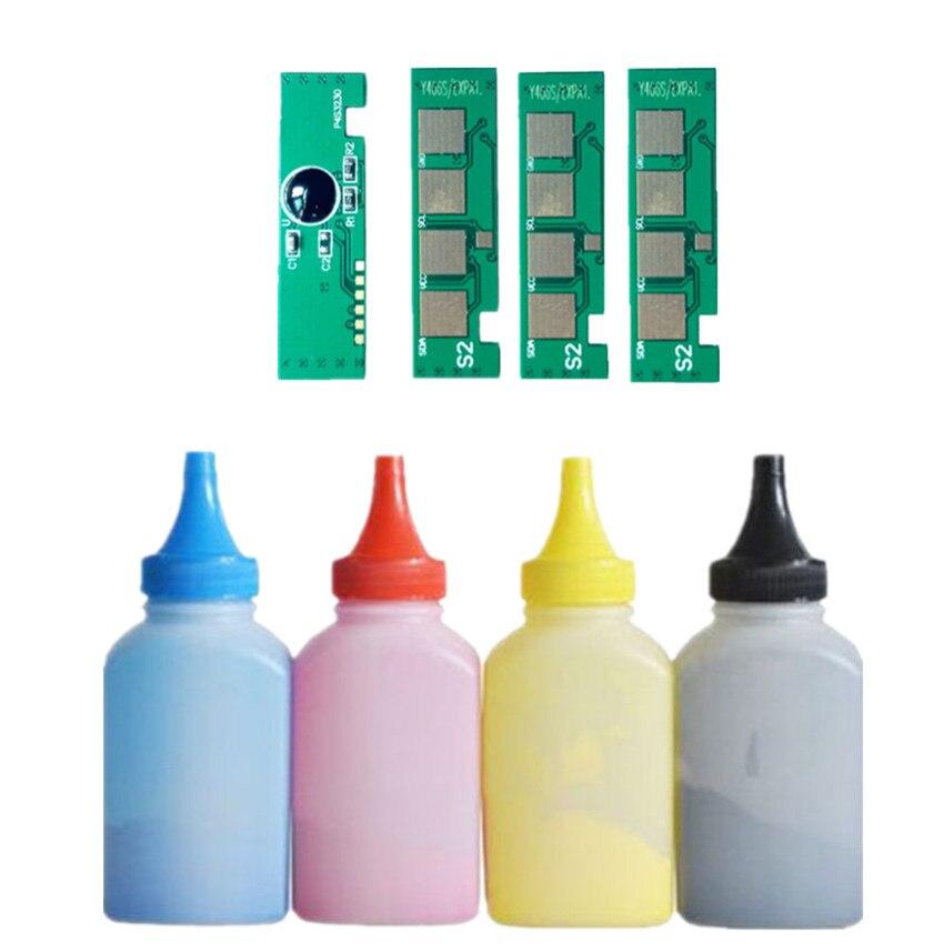 4 tóner par rellenar color de polvo + 4chip CLT-406S clt406s cartucho de tóner para Samsung CLX-3305 CLX-3305W CLX-3305FW CLX-3305FN 3306FN