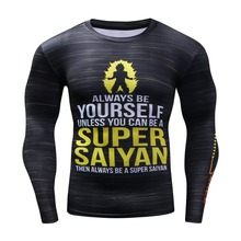 Koszulka Treningowa Elastyczna Długi Rękaw SUPER SAJAN