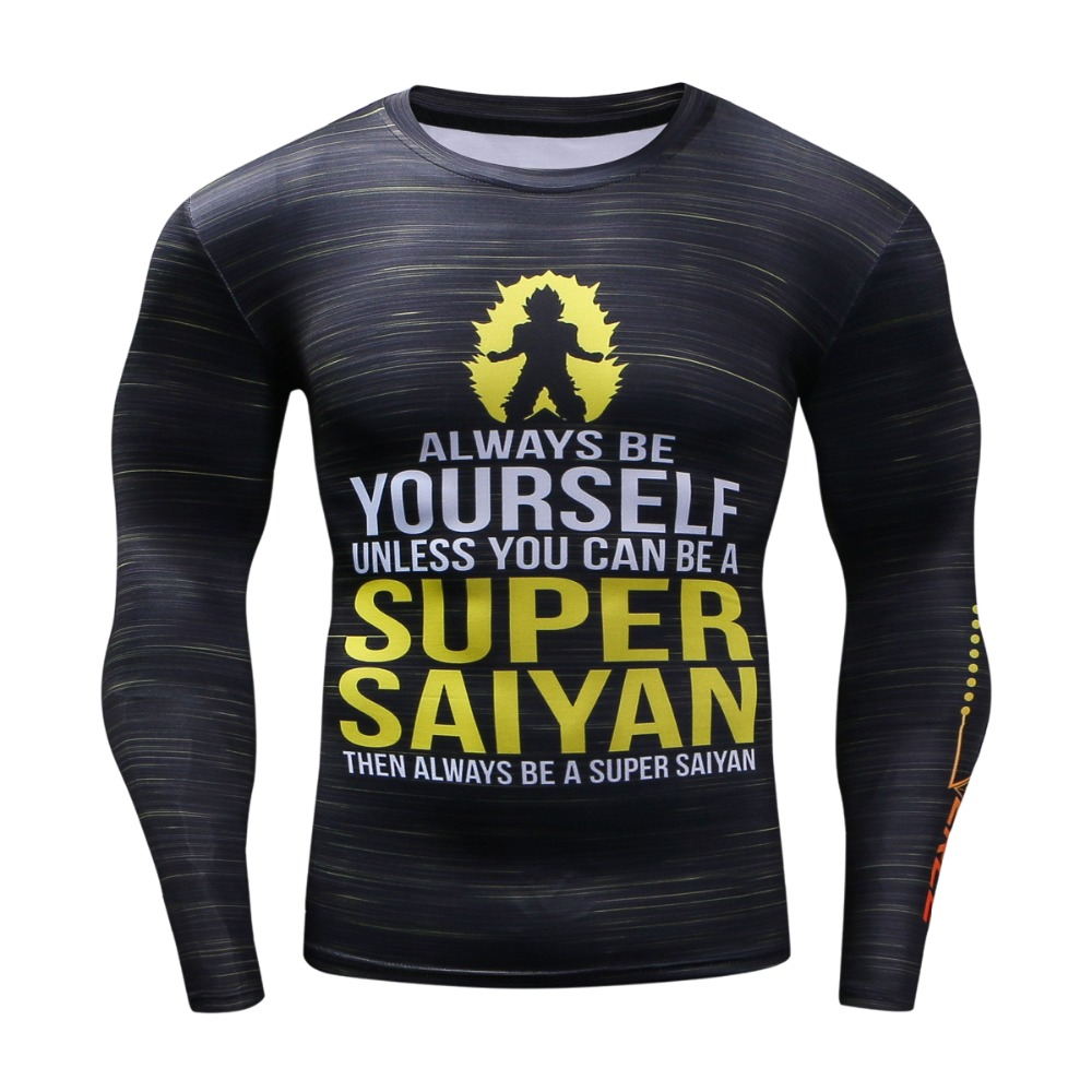3D Rashguard Brand Clothing Compression   Shirt   Quick Dry Fitness Clothing Plus Size Dragon Ball   T     shirt   Hip Hop Fashion Men Top