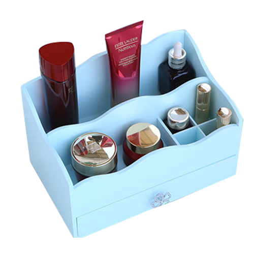MIZHI 1 Wooden household items creative cosmetics storage box jewelry box jewelry finishing box 27 * 17 * 16cm