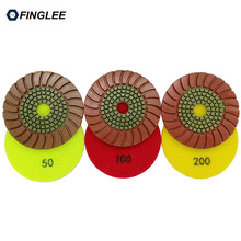 Free shipping 7pcs/lot Polishing Pads 4 inches 100mm granite polishing pads diamond polishing pad diamond tools factory direct sale free shipping jewellery cutting and polishing tool pcd convex tip posalux diamond tools