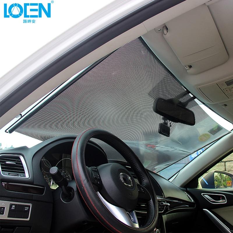 1PC 45/68*125CM car Window Solar Protection Sun Shade Curtain Visor Shield Car Windshield Sunshade Retractable front back
