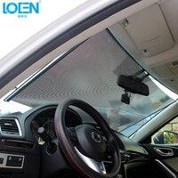 1PCS 40/45/50/58/60/68*125CM Black Car Window Sun Shade Curtain Visor Shield front back Car Windshield Sunshade Retractable|sunshade retractable -