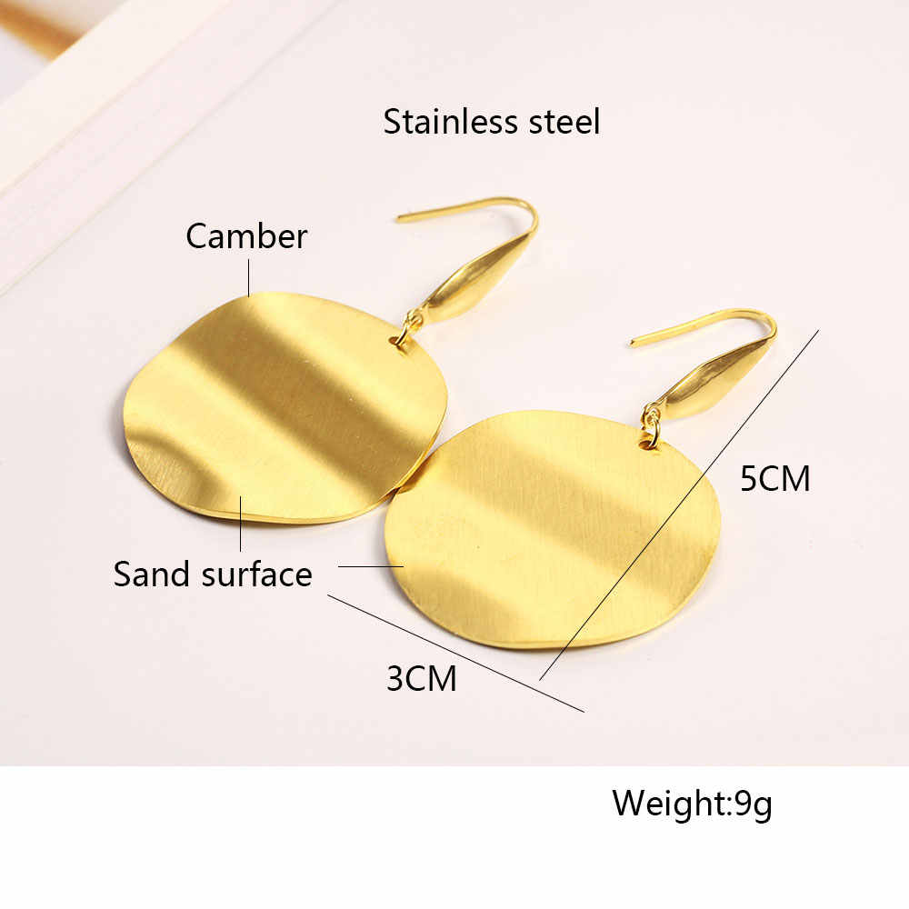 OUFEI Stainless Steel Drop Earrings For Women Fashion Jewelry Accessories Novelties earrings 2019 Bohemian Wholesale Lots bulk