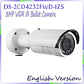 English Version 2014 Smart Code 3MP Full HD WDR Motorize IR-Bullet Smart  IPC DS-2CD4232FWD-IZS,Support Face detection
