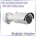 Inglês versão 2014 código inteligente 3MP Full HD WDR motorizar IR - bala inteligente IPC ds-2cd4232fwd-izs, Suporte de detecção de rosto