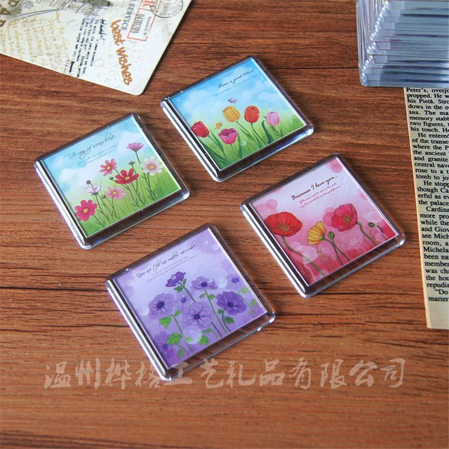 4pcs Lot Magnetic Small Frame Fridge Magnets Refrigerator Decor