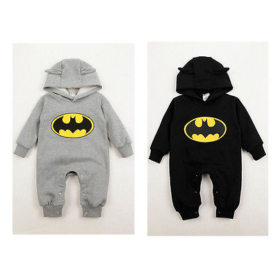 Baby Fleece Batman Hoodies   Rompers   Overall Kids Clothing Newborn Baby Boys Girls Clothes   Romper   Roupas De Bebe
