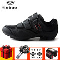 Tiebao MTB обувь для велоспорта  мужские кроссовки  Женская педаль  набор spd  велосипедная обувь  нескользящая обувь для езды на велосипеде  обувь...