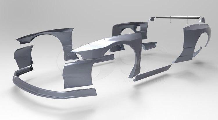 FRP Волокно Стекло комплект подходит для 1989-1994 Skyline R32 GTR pandem ракеты B Стиль широкий Средства ухода за кожей комплект спереди губ колесных арок ...
