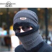 Мужские теплые шапки, шапка +шарф, зима 2016 шерстяная шапка вязаная для мужчин, шапки Lady Beanie трикотажные шапки, женские шапки