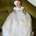 Белый бальные платья для девочек с куртка принцесса бальные платья свадебные дети крещение платья для девочек пачки невесты износ