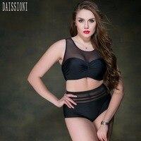 2017 Ladies Plus Size Swimwear Bathing Suit Push Up Bikini Set Brazilian Women High Waist Swimwear