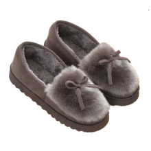 Cute Floor Soft Women Slippers Cotton Warm Winter Indoor House Faux Fur Women Home Shoes Pasoataques Brand