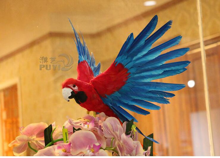 about 30x55cm simulation clourful parrot toy lifelike  spreading wings parrot model garden decoration gift t036 new big simulation wings pigeons toy polyethylene