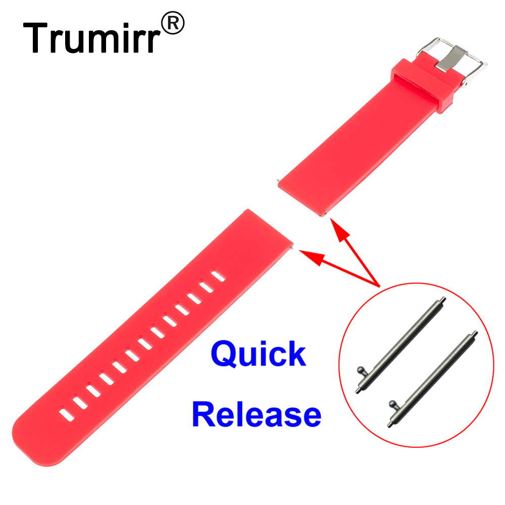 18mm Silicone Rubber Watchband Quick Release for Withings Activite / Steel / Pop Smart Watch Band Resin Strap Bracelet 6 Colors jansin 22mm watchband for garmin fenix 5 easy fit silicone replacement band sports silicone wristband for forerunner 935 gps