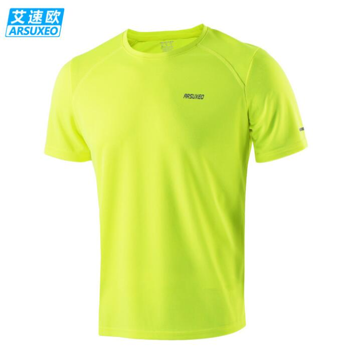 ARSUXEO Women Men T Shirt Short Sleeve Quick Dry Breathable T shirts Roupas for Running Cycling Sports Fitness in Running T Shirts from Sports Entertainment