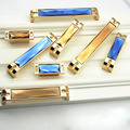 Luxury Europe Crystal Style Cabinet Hardware Kitchen Door Knob Cupboard Dresser Drawer Pull Handle Gold Blue