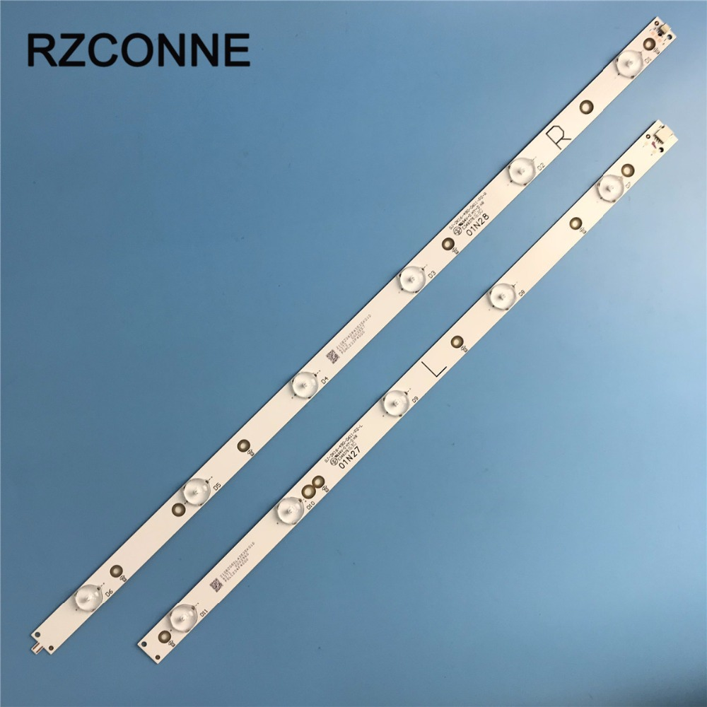 Universal 1000mm*17mm 11leds 33V LED Backlight Lamps Strip W/ Optical Lens Fliter For 49/50 Inch TV Monitor New