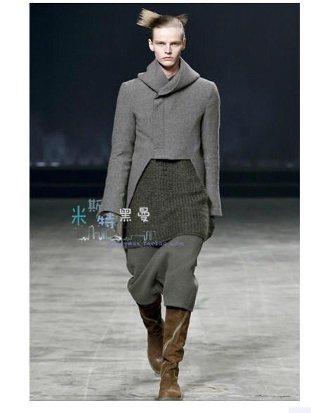 2018 Neue Herrenbekleidung Friseur Gd Fashion Woll Niedrigem Gabelung Cross Hosen Trimmen Pluderhosen Plus Size Kostüme 27-46