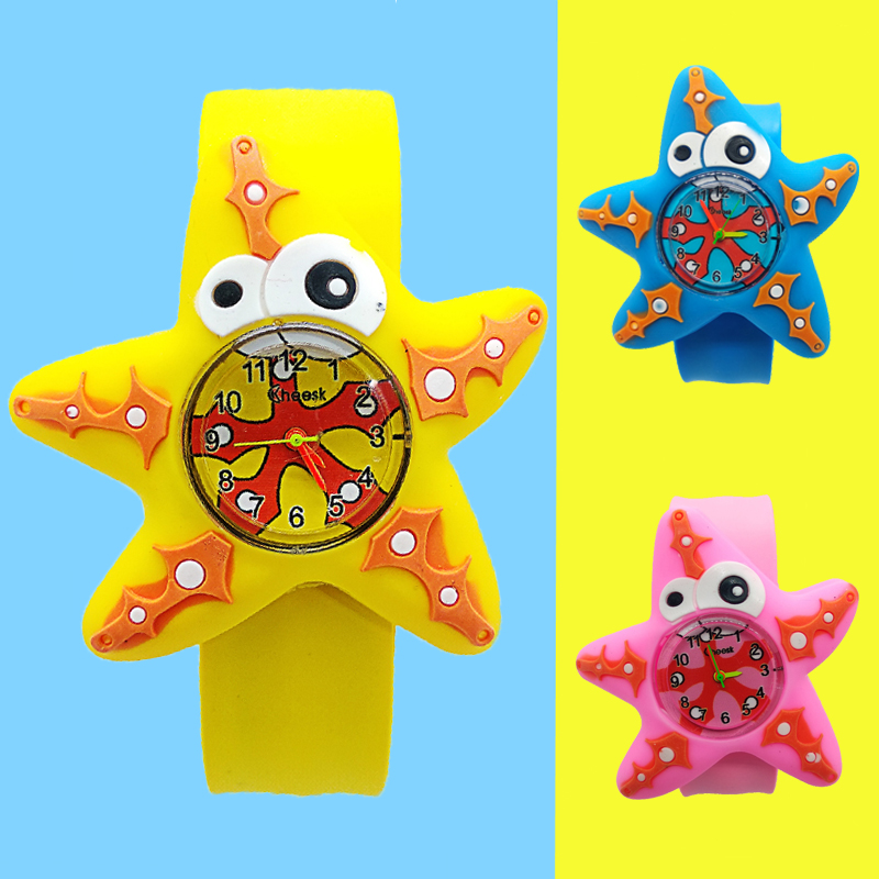 Five-pointed Starfish Boy Watch For Kids Baby Toy Girl Watch For Children Clock Child Quartz Wristwatches Montre Pour Enfants