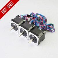 3PCS 45Ncm 64oz In Nema 17 Stepper Motor 2A 4 Wire 1m Cable For DIY 3D