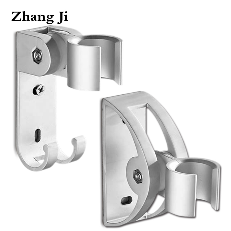 Zhang Ji Wall Mounted Aluminum Shower Head Holder Bathroom Fixture Shower Support Kits Adjustable Showerhead Stand 2 Types