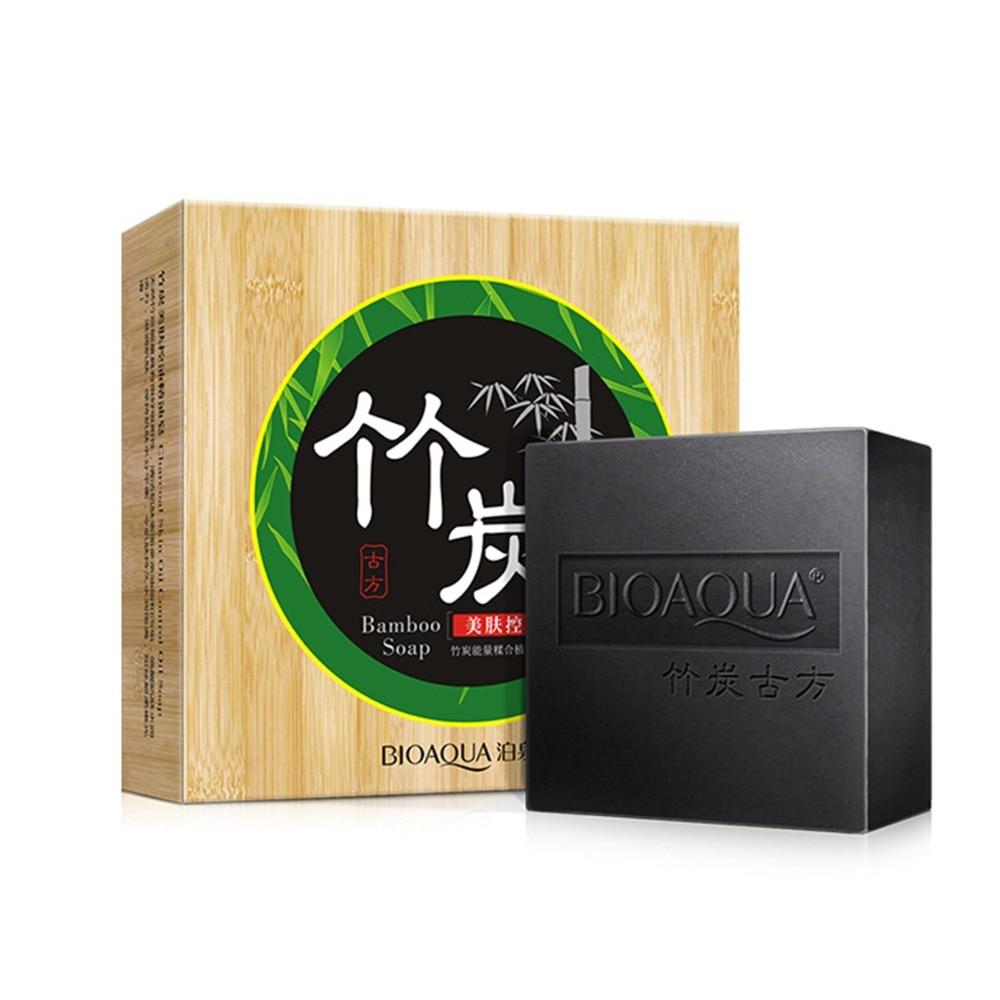 100gBamboo Charcoal Handmade Soap Treatment Skin Sare Natural Skin Whitening Soa