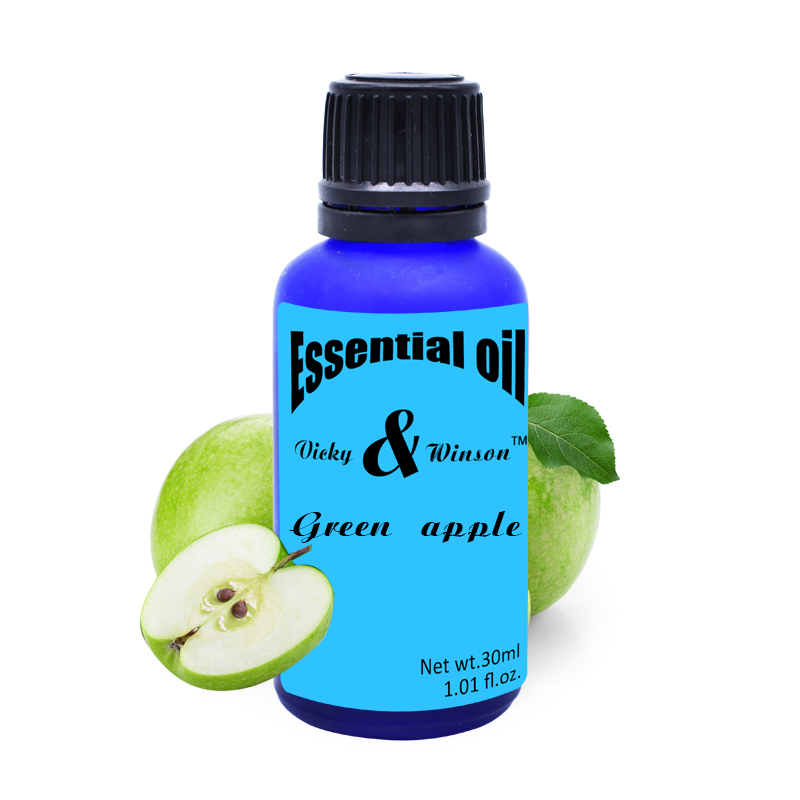 Vicky winson Green apple aromatherapy essential oils 100 pure plant essential oil Apple Oil Sleep aids Defecation Spleen VWXX15 in Essential Oil from Beauty Health