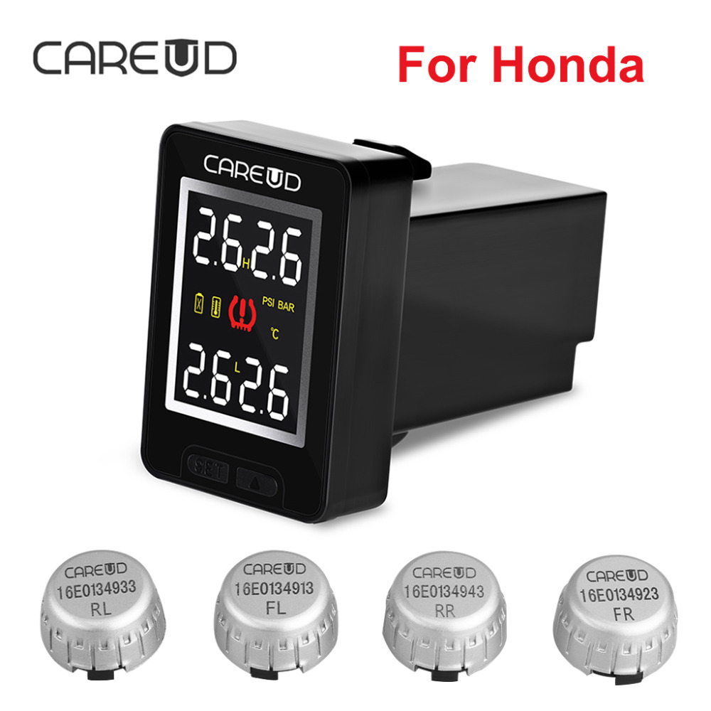 Tire Monitoring System : Careud u car wireless tpms tire pressure monitoring